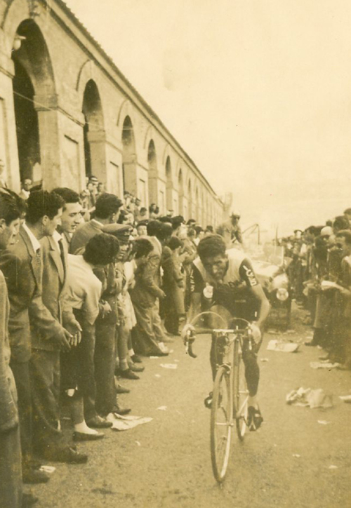 Federico Bahamontes in the 1956 Giro d'Italia