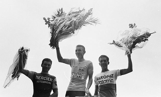 Poulidor, Anquetil and Bahmontes in the 1964 Tour de France