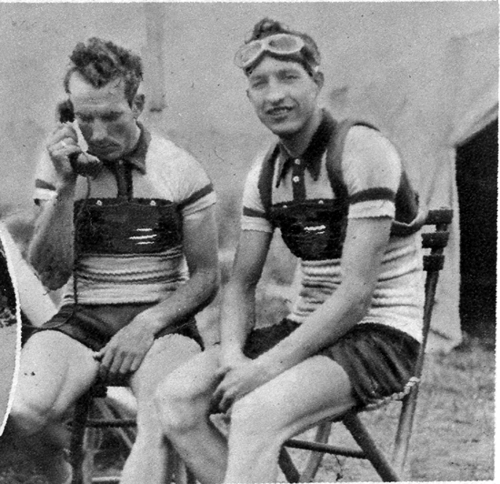 Giuseppe Martano and Gino Brtali in the 1935 Giro d'Italia