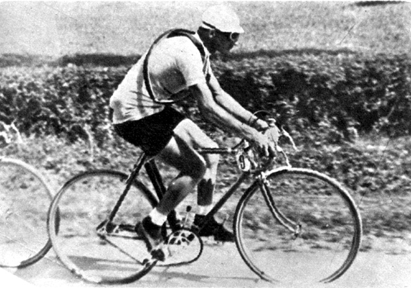 Gino Bartali in the 1936 Giro d'Italia