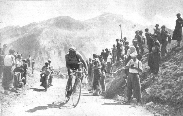 Gino Bartali on the Vars in the 1938 Tpour de France