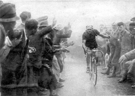 Gino Bartali in the 1939 Giro d'Italia