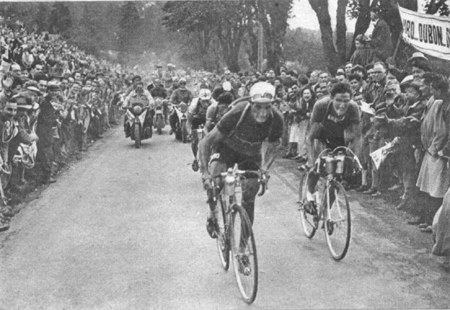 Bartali attacks in the the 1948 Topur de France