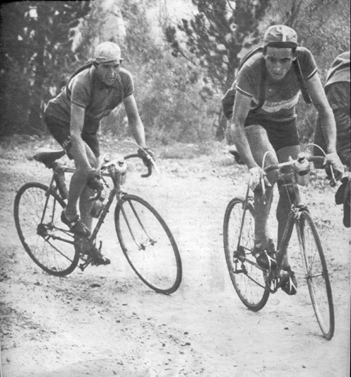 Bartali and Coppi in the 1949 Tour de France