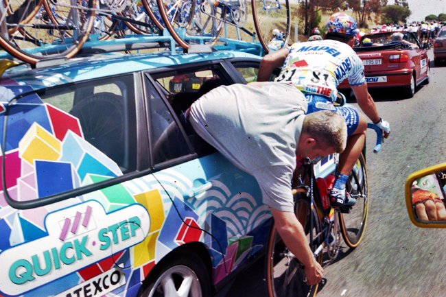 Paolo Bettini in the 1999 Giro d'Italia