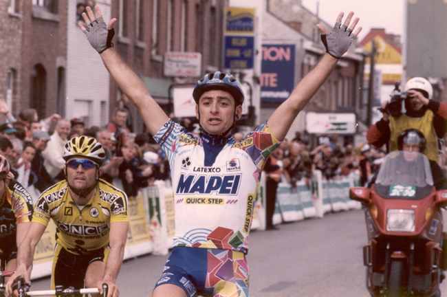 Paolo Bettini wins the 1997 Liège=Bastogne-Liège
