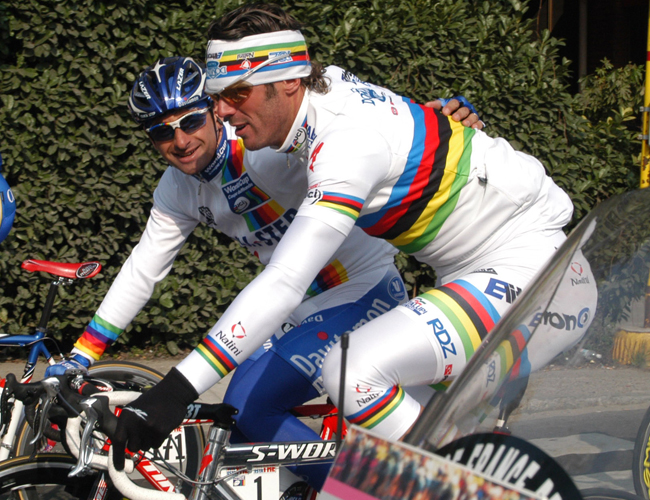Paolo Bettini and Mario Cipollini