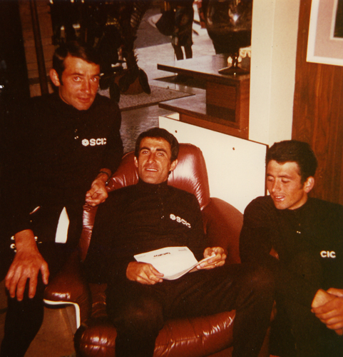 Bitossi with Enrico Paolini and Giambattista Baronchelli