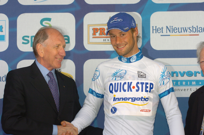 tom Boonen with Vittorio Adorni