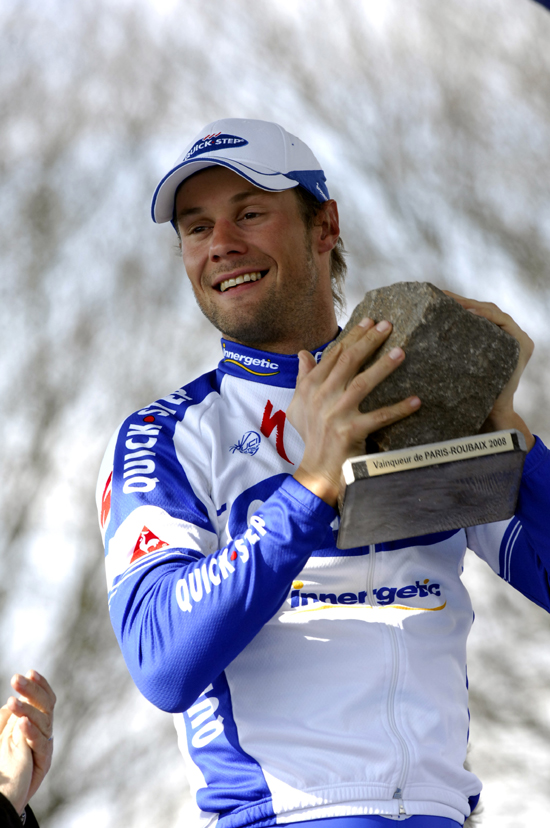 Boonen enjoys his trophy