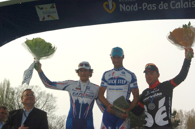 2009 paris-Roubaix podium