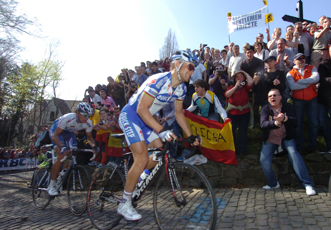 boonen and Pozzato in 2009