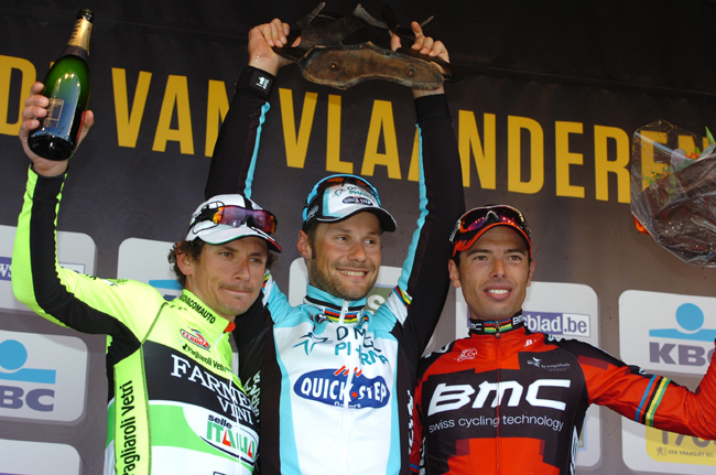 2012 Tour of Flanders podium