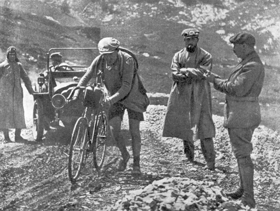 Henri Desgrange in the 1913 Tour de France