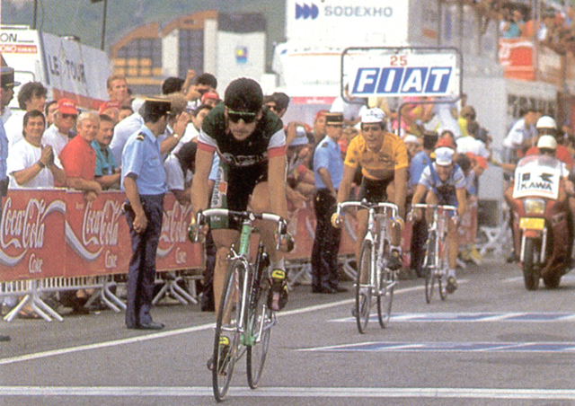 Gianni Bugno beat Miguel Indurain in the 1991 Tour de France