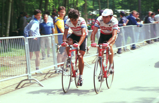 Claudio Chiappuci at the 1985 Giro del Veneto