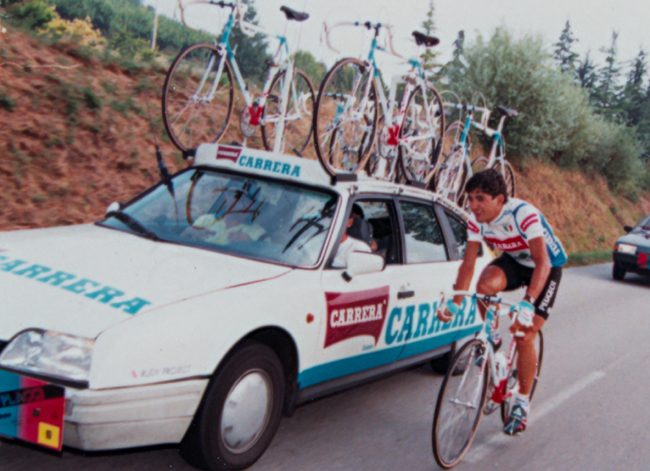 Claudio Chiappucci riding the 1987 Coppa Placci