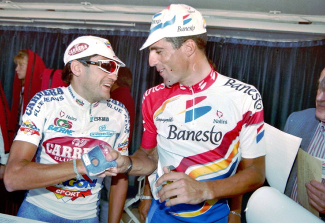 Claudio Chiappucci and miguel Indurain