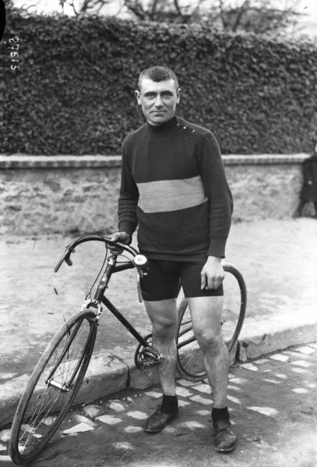 Eugene Christophe before the start of the 1913 Tour de France