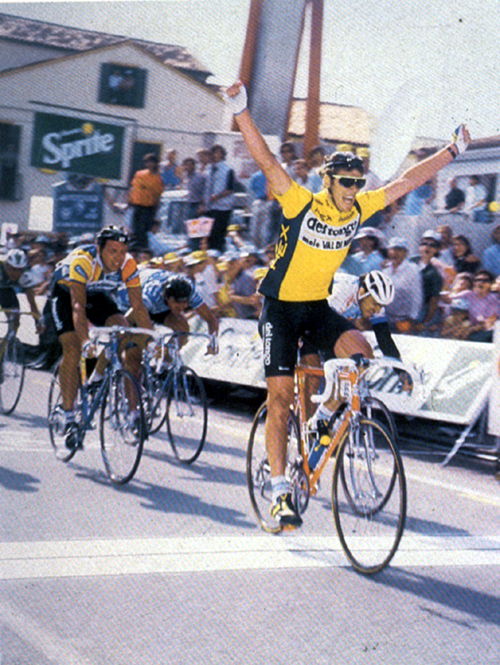 Mario Cipollini wins a stage in the 1989 Giro d'Italia