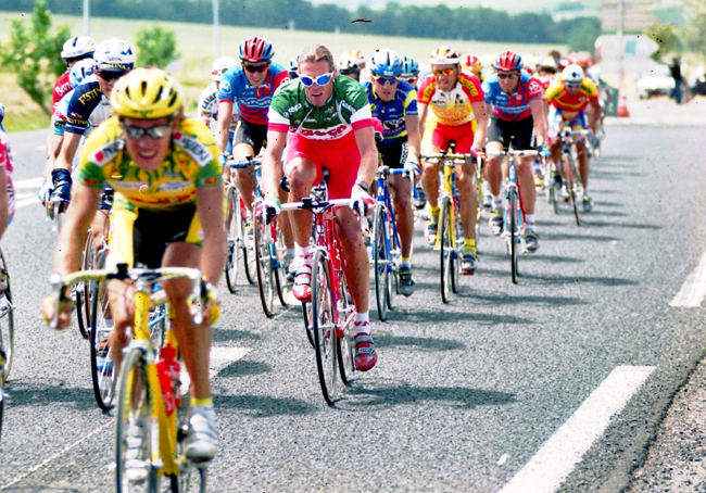 Cipollini rides stage 4 of the 1996 Tour de France