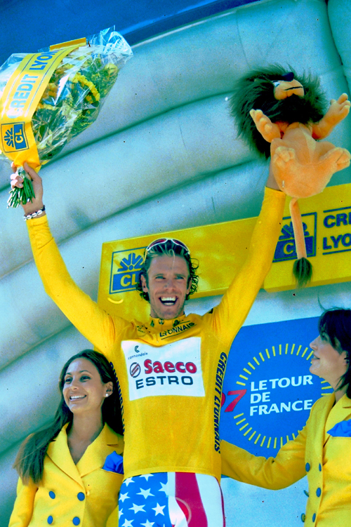 Cipollini in yellow in the 1997 Tour
