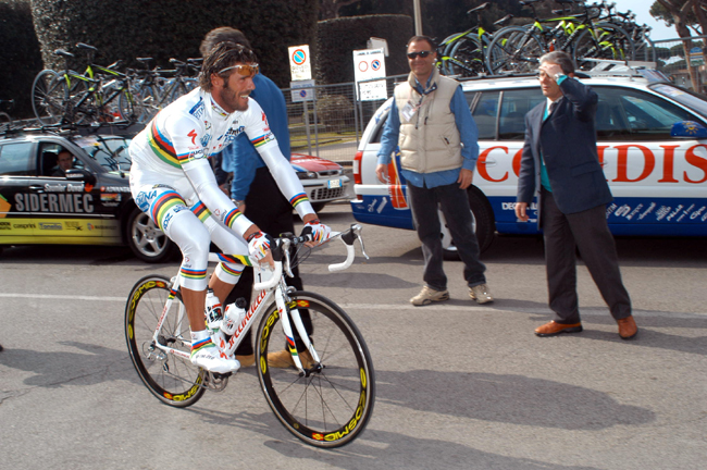Cipollini at the 2003 Tirreno Adiratico