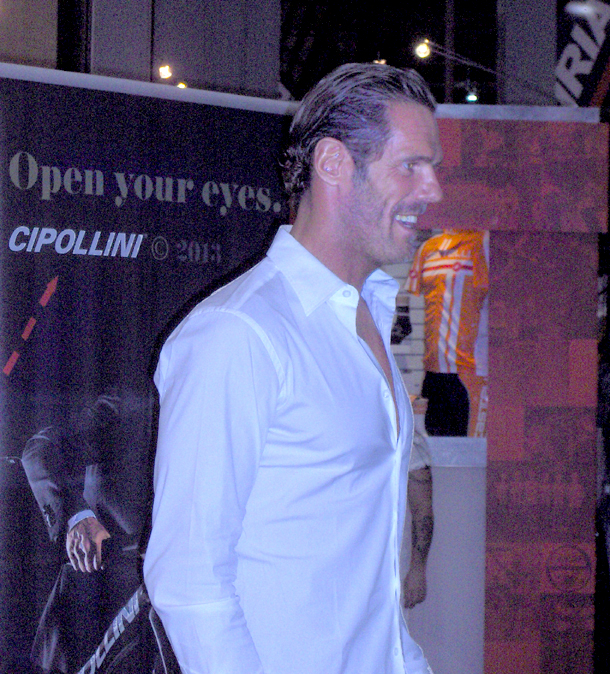Mario Cipollini at the 2012 Interbike show
