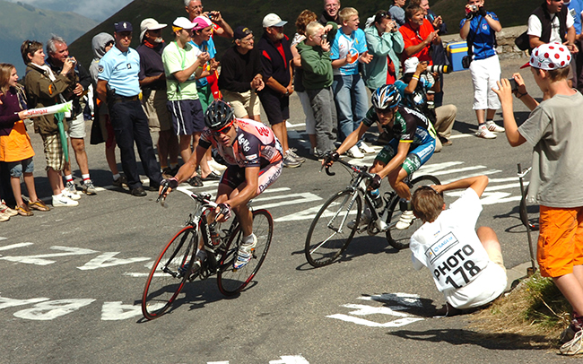 Cadel Evans in the 2007 Tour de France