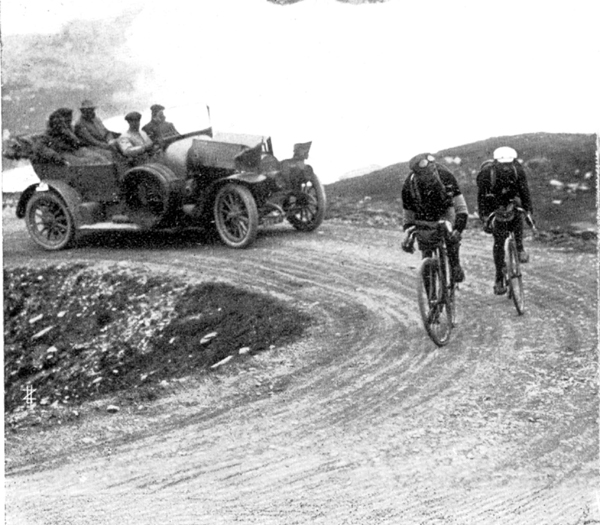 Faber and Garrigou in stage 11 of the 1913 Tour de France