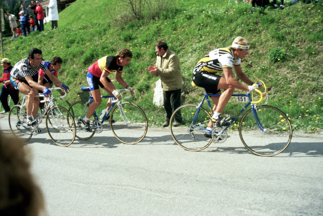 Laurent Fingon in the 1984 Giro d'Italia
