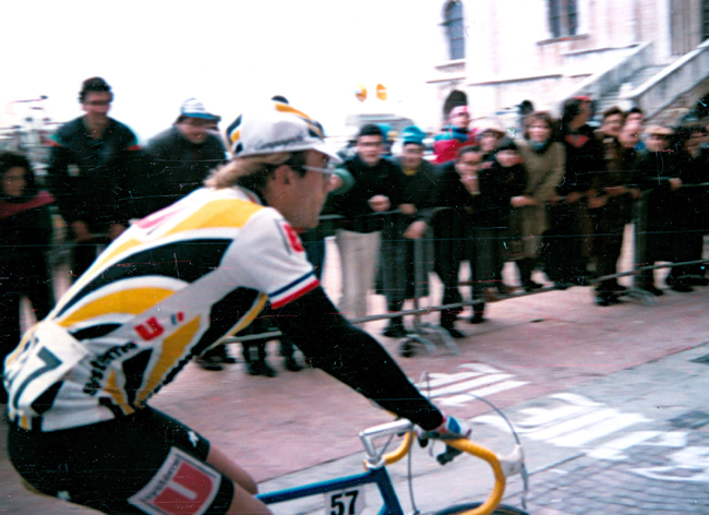 Laurent Fignon in the 1986 Tirreno Adriatico