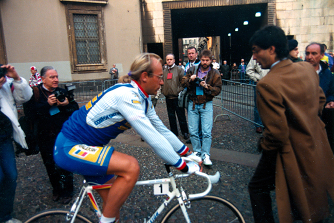 Fignon at the 1990 milano-San Remo