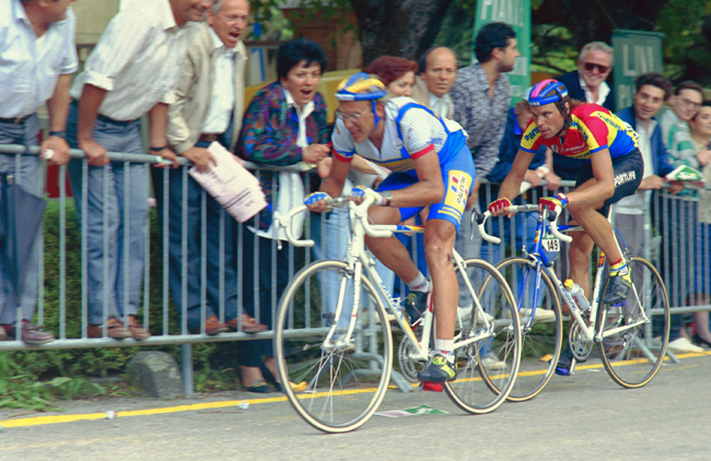 Laurent Fignon races stage 7 of the 1990 Giro d'Italia