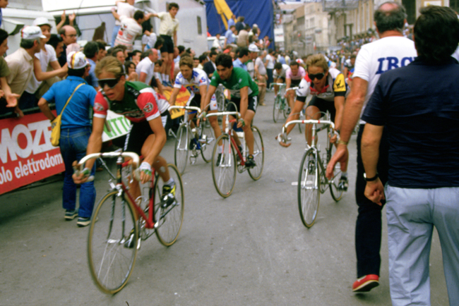 Andy Hampsten in stage 15 of the 1985 Giro d'Italia
