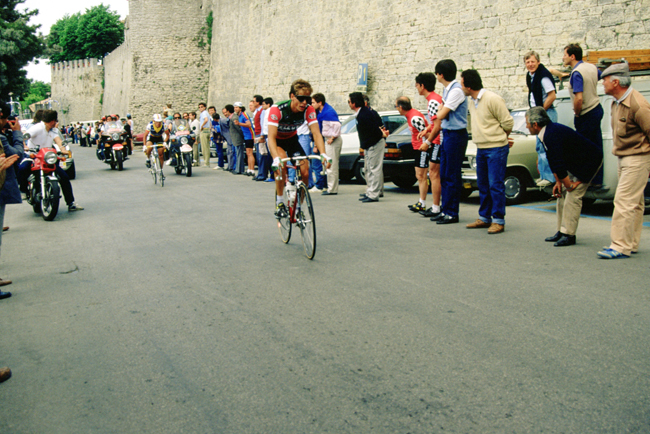 Andy Hampsten in the 1985 Giro d'Italia