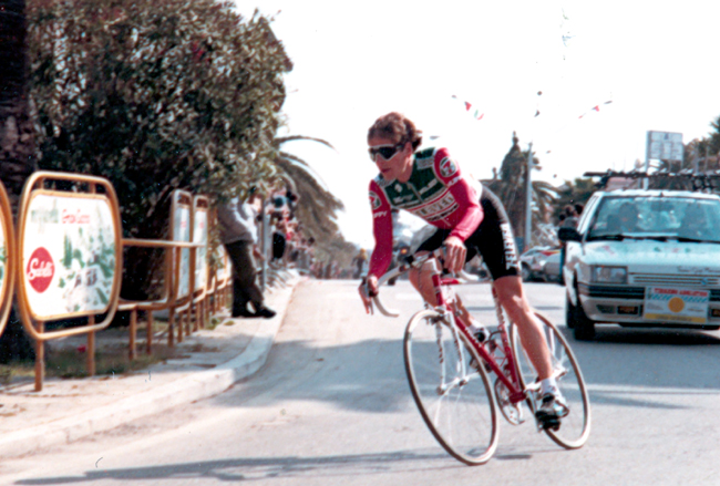 Andy Hampsten in the 1987 Tirreno-Adriatico