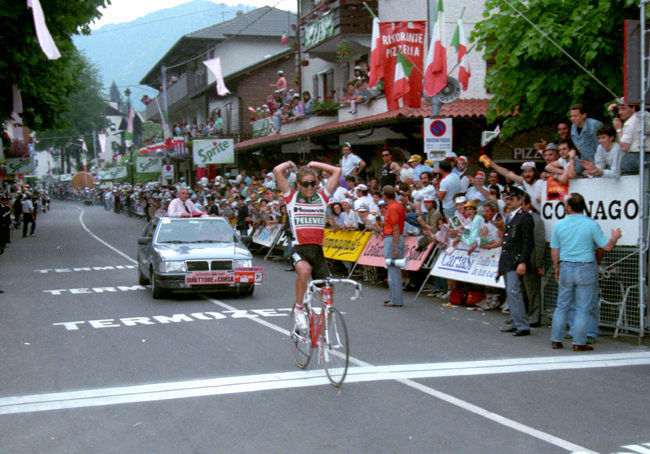 Andy Hampsen wins tsge 12 of the 1988 Giro d'Italia