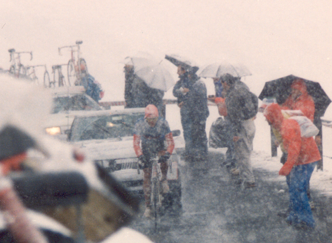 Andew Hampsten on the Gavia