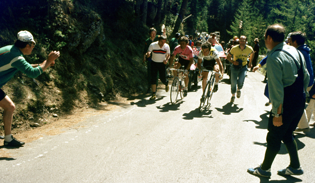 Bernard Hinault in the 1980 Giro d'Italia