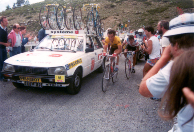 Bernard Hinault in stage 17