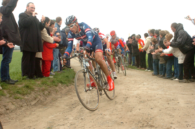 George Hincapie at Paris-Roubaix