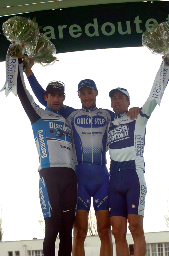 2005 Paris-Roubaix podium