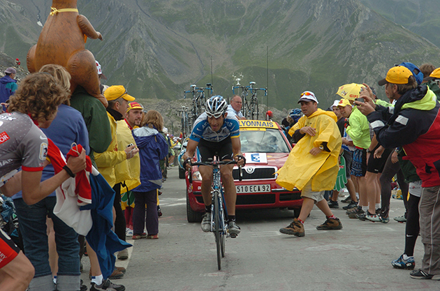 Hincapie in the 2005 Tour de France