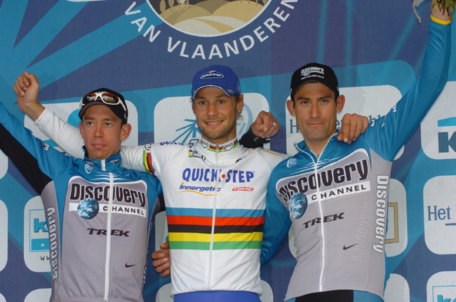 2006 Tour of Flanders podium