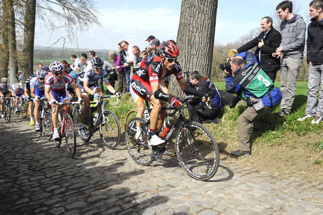 Hincapie at the 2012 Tour of Flanders