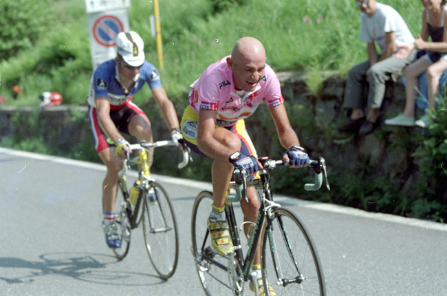 Marco pantani and Laurent Jalabert