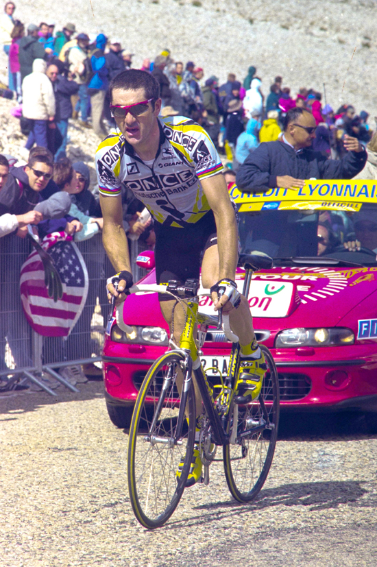 Jalabert climbs Mt Ventoux