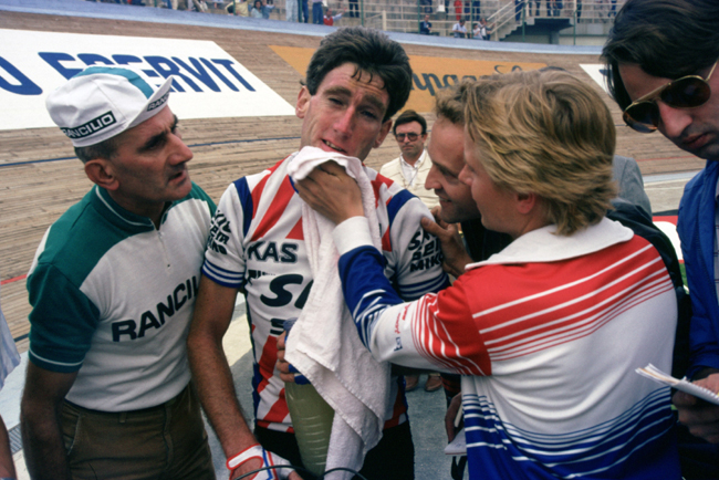 Sean Kelly after the 1985 Giro di lombardia