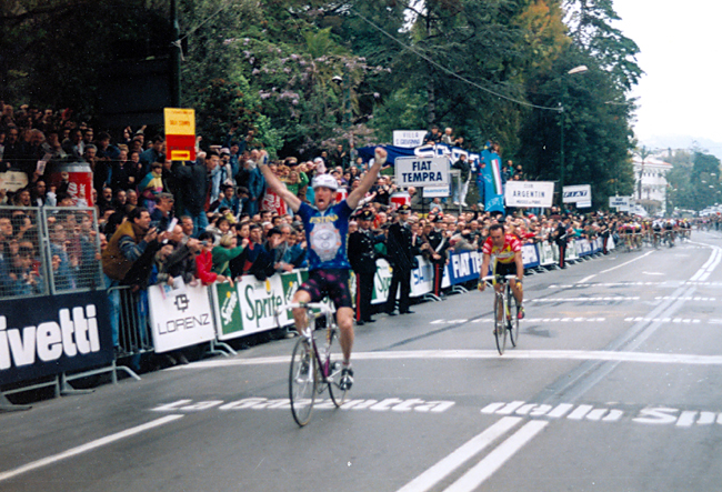 Kelly in the 1992 Milano San Remo